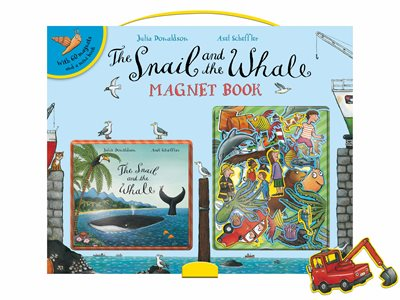 Book cover for The Snail and the Whale Magnet Book
